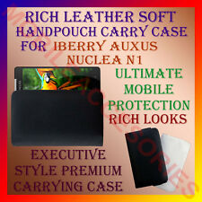 ACM-RICH LEATHER SOFT CARRY CASE IBERRY AUXUS NUCLEA N1 MOBILE HANDPOUCH COVER