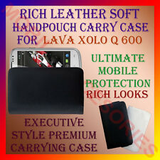 ACM-RICH LEATHER SOFT CARRY CASE LAVA XOLO Q600 MOBILE HANDPOUCH COVER PROTECT