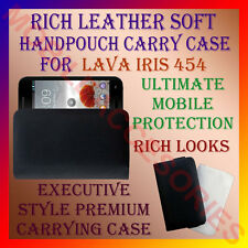 ACM-RICH LEATHER SOFT CARRY CASE LAVA IRIS 454 MOBILE HANDPOUCH COVER PROTECTION