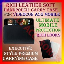 ACM-RICH LEATHER SOFT CARRY CASE VIDEOCON A55 MOBILE HANDPOUCH COVER PROTECTION