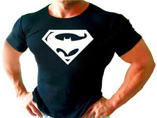 SUPER MAN BATMAN  BODYBUILDING  GYM   T-Shirt  HARD WORKOUT Present Gift S-XL