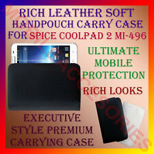 ACM-RICH LEATHER SOFT CARRY CASE SPICE COOLPAD 2 MI-496 MOBILE HANDPOUCH COVER
