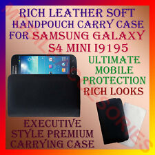 ACM-RICH LEATHER SOFT CARRY CASE SAMSUNG GALAXY S4 MINI i9195 MOBILE COVER POUCH