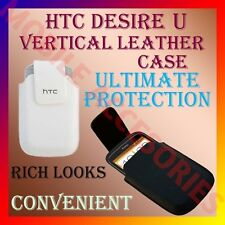 ACM-VERTICAL LEATHER CARRY CASE POUCH COVER for HTC DESIRE U MOBILE PROTECTION