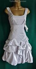 New MONSOON Silver Grey CARMEL Ruched Bridesmaid Bridal Wedding Dress Uk 8 10 14