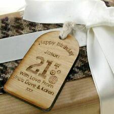 personalised 21st birthday gift novelty gift tags 21st bottle tag free engraving