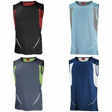 Spiro Mens Cool Dry Sports Gym Athletic Vest Tank Top 4 Colours S-2XL