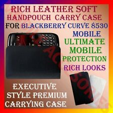 ACM-RICH LEATHER SOFT CARRY CASE for BLACKBERRY CURVE 8530 MOBILE COVER POUCH