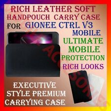 ACM-RICH LEATHER SOFT CARRY CASE of GIONEE CTRL V3 MOBILE HANDPOUCH COVER HOLDER