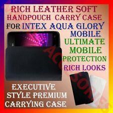 ACM-RICH LEATHER SOFT CARRY CASE for INTEX AQUA GLORY MOBILE HANDPOUCH COVER