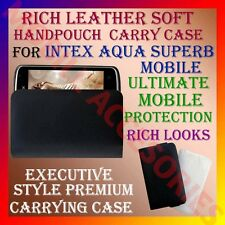 ACM-RICH LEATHER SOFT CARRY CASE for INTEX AQUA SUPERB MOBILE HANDPOUCH COVER