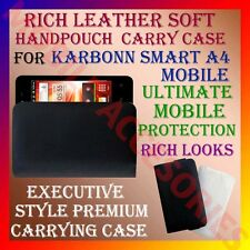 ACM-RICH LEATHER SOFT CARRY CASE for KARBONN SMART A4 MOBILE HANDPOUCH COVER NEW
