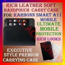 ACM-RICH LEATHER SOFT CARRY CASE for KARBONN SMART A11 MOBILE HANDPOUCH COVER