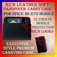 ACM-RICH LEATHER SOFT CARRY CASE for SPICE MI-270 MOBILE HANDPOUCH COVER PROTECT