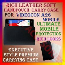 ACM-RICH LEATHER SOFT CARRY CASE for VIDEOCON A26 MOBILE HANDPOUCH COVER PROTECT