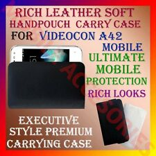 ACM-RICH LEATHER SOFT CARRY CASE for VIDEOCON A42 MOBILE HANDPOUCH COVER PROTECT