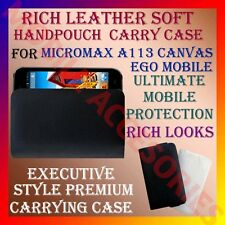 ACM-RICH LEATHER SOFT CARRY CASE for MICROMAX CANVAS EGO A113 MOBILE POUCH COVER