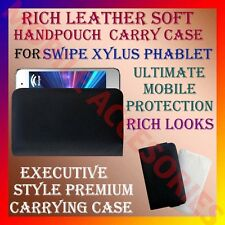 ACM-RICH LEATHER SOFT CARRY CASE SWIPE XYLUS PHABLET MOBILE HANDPOUCH COVER NEW