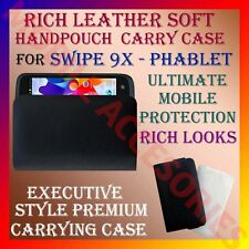 ACM-RICH LEATHER SOFT CARRY CASE SWIPE 9X PHABLET MOBILE HANDPOUCH COVER POUCH