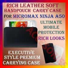 ACM-RICH LEATHER SOFT CARRY CASE for MICROMAX NINJA A50 MOBILE HANDPOUCH COVER
