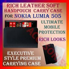 ACM-RICH LEATHER SOFT CARRY CASE for NOKIA LUMIA 505 MOBILE POUCH COVER PROTECT