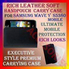 ACM-RICH LEATHER SOFT CARRY CASE for SAMSUNG S5380 WAVE Y MOBILE HANDPOUCH COVER