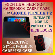 ACM-RICH LEATHER SOFT CARRY CASE GIONEE PIONEER P2 MOBILE HANDPOUCH COVER HOLDER