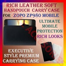 ACM-RICH LEATHER SOFT CARRY CASE for ZOPO ZP980 MOBILE HANDPOUCH COVER HOLDER