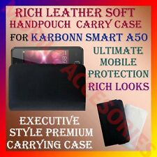 ACM-RICH LEATHER SOFT CARRY CASE for KARBONN SMART A50 MOBILE HANDPOUCH COVER