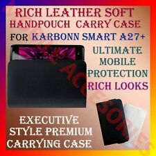 ACM-RICH LEATHER SOFT CARRY CASE for KARBONN SMART A27+ MOBILE HANDPOUCH COVER