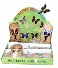 GOLD PLATED BUTTERFLY BOOKMARK - CHOICE OF 6 COLOURS