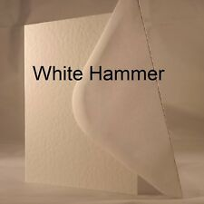 White Hammer 5x7 Quality 240gsm Card Blanks select pack size 1st class FREE Post