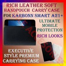 ACM-RICH LEATHER SOFT CARRY CASE for KARBONN SMART A21+ MOBILE HANDPOUCH COVER