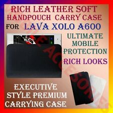 ACM-RICH LEATHER SOFT CARRY CASE for LAVA XOLO A600 MOBILE HANDPOUCH COVER CASE