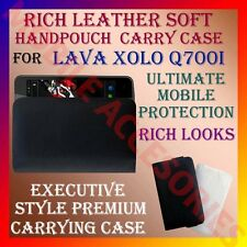 ACM-RICH LEATHER SOFT CARRY CASE for LAVA XOLO Q700I MOBILE HANDPOUCH COVER CASE