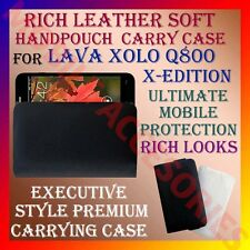 ACM-RICH LEATHER SOFT CARRY CASE for LAVA XOLO Q800 X-EDITION MOBILE COVER POUCH