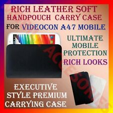 ACM-RICH LEATHER SOFT CARRY CASE for VIDEOCON A47 MOBILE HANDPOUCH COVER PROTECT