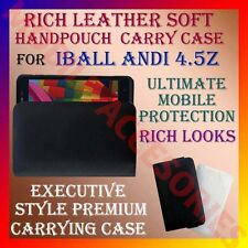 ACM-RICH LEATHER SOFT CARRY CASE for IBALL ANDI 4.5Z MOBILE HANDPOUCH COVER CASE