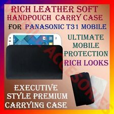 ACM-RICH LEATHER SOFT CARRY CASE for PANASONIC T31 MOBILE HANDPOUCH COVER HOLDER
