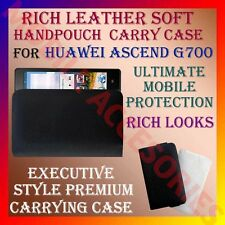 ACM-RICH LEATHER SOFT CARRY CASE HUAWEI ASCEND G700 HANDPOUCH COVER POUCH HOLDER