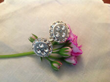 Cufflinks Vintage style handmade Gifts Weddings Favours Rhinestone Post Free