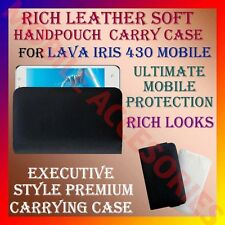 ACM-RICH LEATHER SOFT CARRY CASE for LAVA IRIS 430 MOBILE HANDPOUCH COVER HOLDER