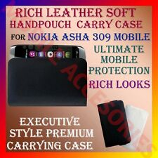 ACM-RICH LEATHER SOFT CARRY CASE for NOKIA ASHA 309 MOBILE HANDPOUCH COVER POUCH
