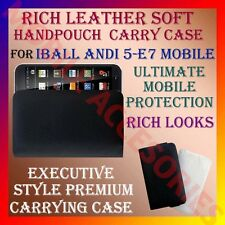 ACM-RICH LEATHER SOFT CARRY CASE for IBALL ANDI 5-E7 MOBILE HANDPOUCH COVER CASE