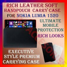 ACM-RICH LEATHER SOFT CARRY CASE for NOKIA LUMIA 1520 MOBILE HANDPOUCH COVER NEW
