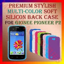 ACM-PREMIUM RICH MULTI-COLOR SOFT SILICON BACK CASE for GIONEE PIONEER P2 COVER