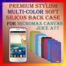 ACM-PREMIUM MULTICOLOR SOFT SILICON BACK CASE for MICROMAX JUICE A77/A177 COVER