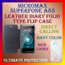 ACM-LEATHER DIARY FOLIO FLIP FLAP CASE for MICROMAX SUPERFONE A85 MOBILE COVER