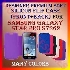 ACM-DESIGNER PREMIUM SILICON SOFT FLIP CASE for SAMSUNG STAR PRO S7262 COVER NEW
