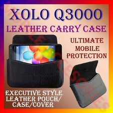 ACM-HORIZONTAL LEATHER CARRY CASE for XOLO Q3000 MOBILE POUCH COVER HOLDER NEW
